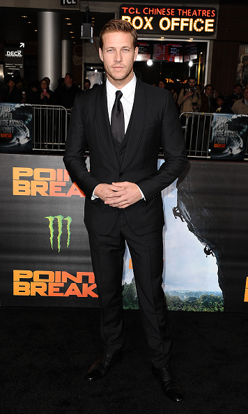 December 15:  Actor Luke Bracey looked on point in his suit at the premiere of his new thriller 'Point Break' at TCL Chinese Theatre in Hollywood.
