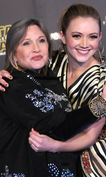 December 14: It was a mother-daughter date night for 'Star Wars' actress Carrie Fisher and her daughter Billie Lourd at the premiere of 'The Force Awakens' in Hollywood.