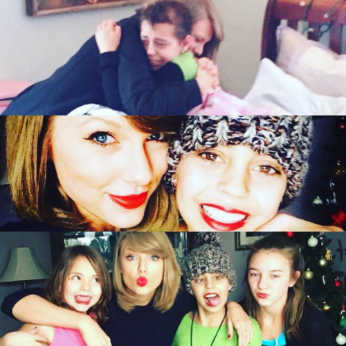 "Christmas came early for cancer patient Delaney Clements. Taylor Swift paid a visit to her young fan in Colorado, while en route to Tennessee. The 13-year-old said it was the ""most amazing miracle"" having Taylor enter her room. Recalling the visit, she wrote, ""I was just laying down taking a nap in my room when my mom said I had a visitor. And I thought it might just be another person coming to see how I was. Then suddenly the most amazing miracle happens... The Taylor Swift walked into my bedroom and spent the afternoon with me just talking and hanging!!!! I am beyond Blessed for everyone's help and support!!!""