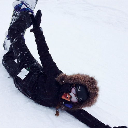 Nina Dobrev shred snow while snowboarding in Park City, Utah.