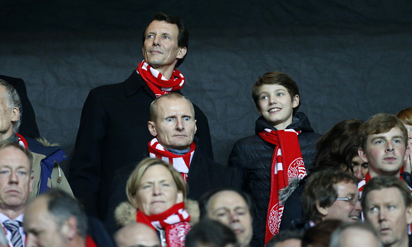 November 2015: Who can pass up a good game? Prince Felix spent some quality time at the UEFA EURO 2016 soccer qualifier, at the Telia Parken stadium with his father Prince Joachim of Denmark. 