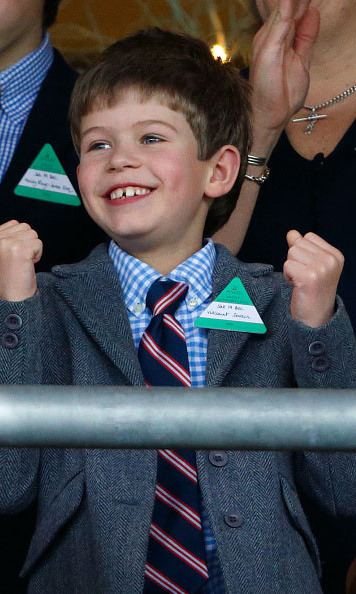 December 2015: Little James, Viscount Severn showed he's a true horse racing fan during the Christmas Racing Weekend at Ascot Racecourse in England. 