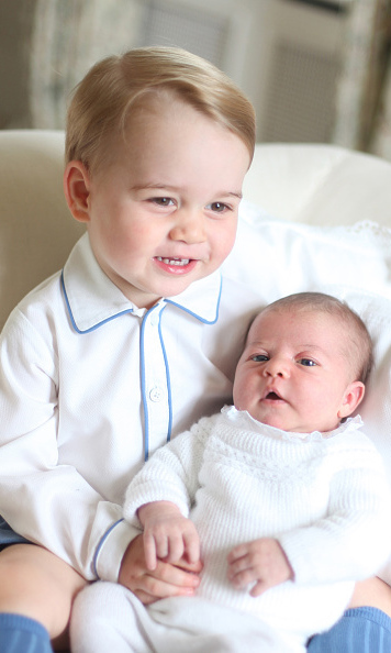 May 2015: A first glance at the British royal siblings together! Prince George and his little sister Princess Charlotte posed for an adorable snap taken by their mom Kate Middleton at their home in Kensington Palace, London. 