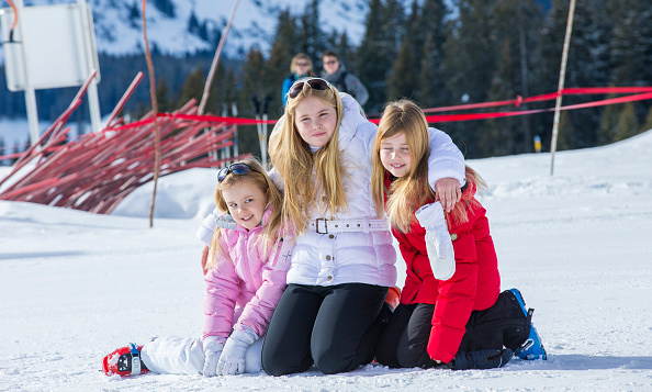 February 2015: Winter Wonderland. Dutch Princesses Ariane, Catharina-Amalia and Alexia posed during their annual family photo call in Austria. 