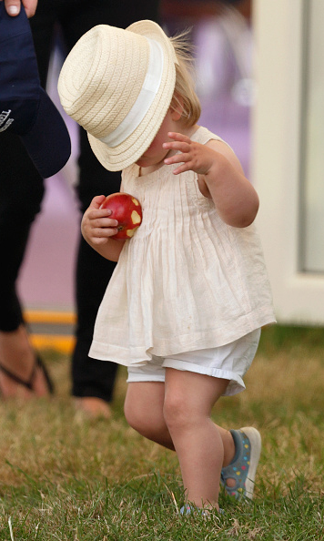 August 2015: Tipping her hat... Mia Tindall has had plenty of cute moments, and when the little lady almost lost her hat during the Festival of British Eventing, it was hard to beat! 