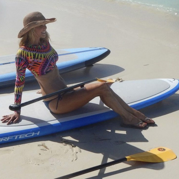 61-Year-old supermodel Christie Brinkley showed off her toned figure, while vacationing with her daughter Alexa Ray Joel and son Jack Brinkley-Cook in the Turks and Caicos. 