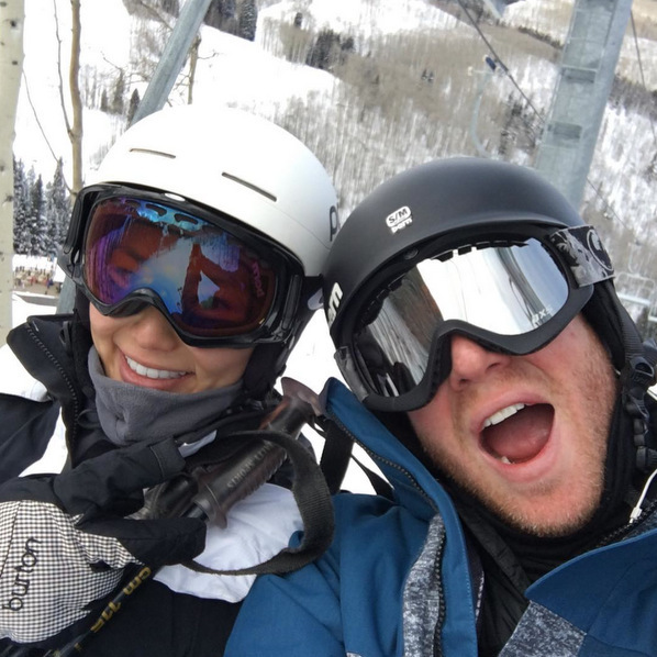 Newlyweds Jamie Chung and Bryan Greenberg hit the slopes in Beaver Creek, Colorado.