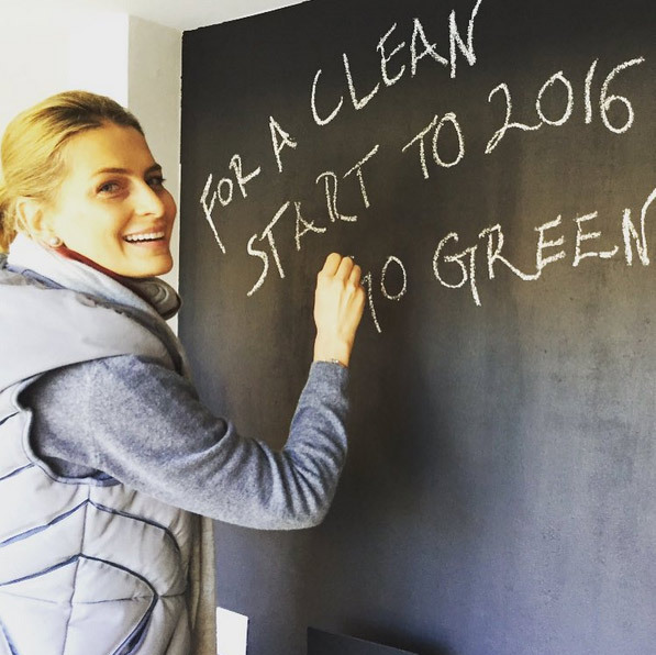 Princess Tatiana of Greece was in an inspiring mood as she proclaimed: 'For a Clean Start to 2016 Go Green!'
