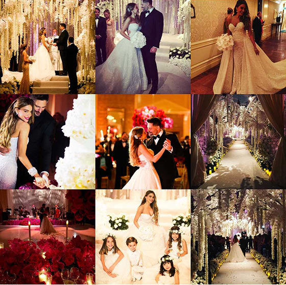 This year it was all about Sofia Vergara's spectacular wedding to Joe Manganiello. The 'Modern Family' actress received almost 50 million likes throughout the year.