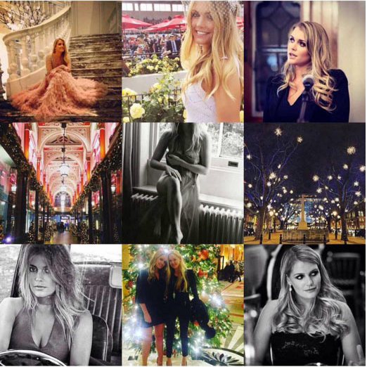 Princess Diana's niece, Lady Kitty Spencer, kept us up-to-date with all the most fabulous social parties and engagements via her Instagram page.  
