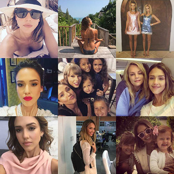 Jessica Alba likes to keep fans in the know when she is traveling the world or... attending a Taylor Swift concert with her kids!