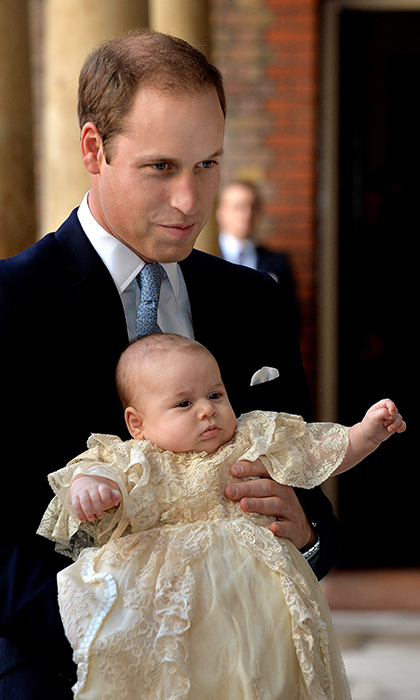 Prince George's christening at the Royal Chapel at St. James's Palace in October 2013 marked just his second appearance in public.