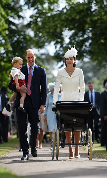 The whole family looked picture perfect when they arrived for Princess Charlotte's christening in July, 2015.