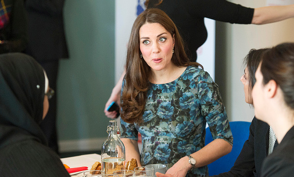 Kate was typically animated as she attended a coffee morning at Family Friends in Kensington.