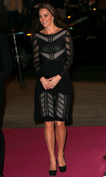 Princess Charlotte's mom made quite the statement in a black crocheted Temperley London dress at the 2014 Action on Addiction Autumn Gala.