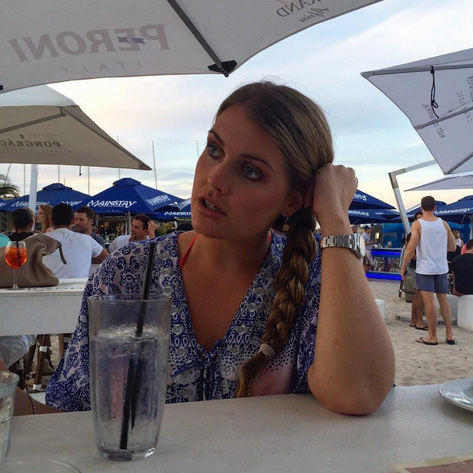 Sitting pretty, Lady Kitty Spencer relaxes in Cape Town after a busy few days celebrating her best friend's wedding.