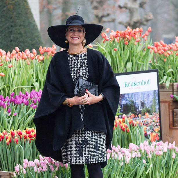 There's nothing like colorful tulips to cheer up a cold winter morning! Queen Maxima of the Netherlands was the star guest at a flower show in Lisse, in the Netherlands. 