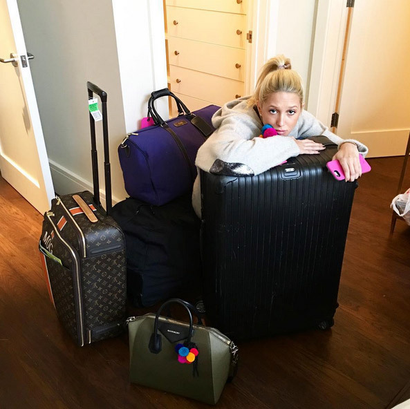Posting a *sadface* photo as her vacation in Aspen, Colorado, came to an end, Princess Olympia of Greece summed up the general January blues for most of us! 