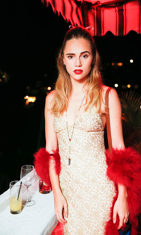 January 7: Lady in red! Suki Waterhouse was a vision during the W Magazine and Dom Pérignon celebration the at Chateau Marmont. 