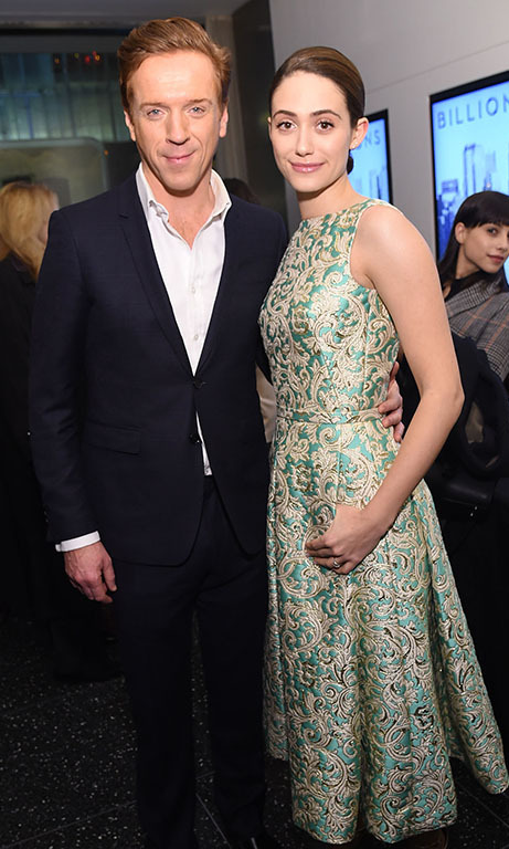 January 7: It's Showtime! Damian Lewis and Emily Rossum stopped to chat during the premiere of Showtime's new series 'Billions,' premiering Sunday January 17 at 10 p.m., at The Museum of Modern Art in New York City. 