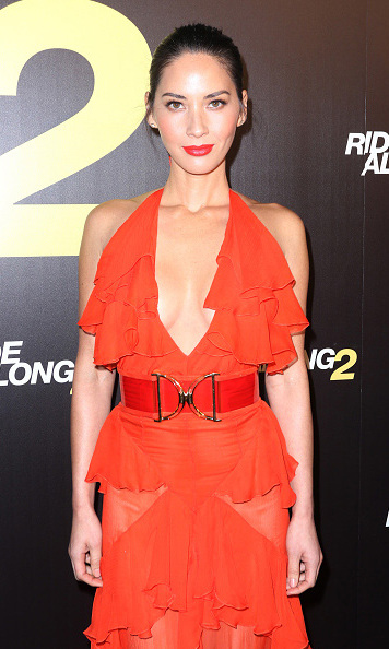 January 6: Miami heat! Olivia Munn dazzled at the premiere of her latest film 'Ride Along 2' in Miami. 