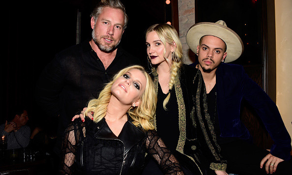"January 5: Jessica and Ashlee Simpson spent some quality sister time with their husbands, Eric Johnson and Evan Ross at Linda Perry's ""Hands of Love"" celebration in L.A.. 