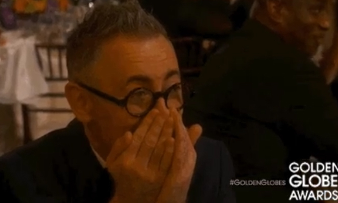 Alan Cumming had a gif-worthy reaction. 