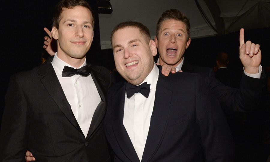 Billy Bush photobombed Andy Samberg and Jonah Hil.