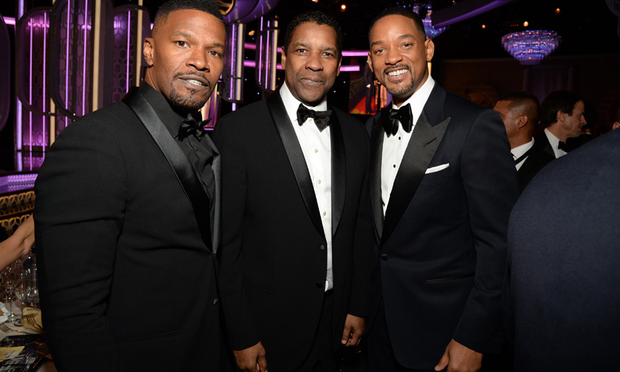 Jamie Foxx, Denzel Washington and Will Smith gave fans a Man Crush Monday moment with a quick pic during the ceremony. 