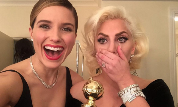 Sophia Bush celebrated Lady Gaga's win. 