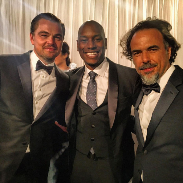 Tyrese, Leo and director Alejandro González Iñárritu were three handsome gents as they got together for an Instagram shot. 