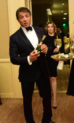 What a knockout! Golden Globes winner Sylvester Stallone.