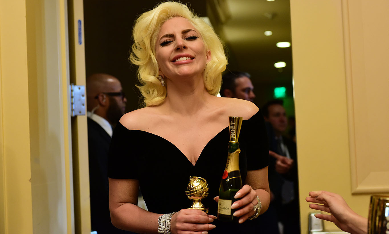 It was a night for celebration! Sunday night's Golden Globes kicked off award season, and some of the biggest names in Hollywood starred in the evening's best moments. We're taking you behind the scenes for a look at the highlights you might have missed: Amy Schumer and Jennifer Lawrence's BFF date, backstage at the Moet winner's lounge with Lady Gaga and Taraji P. Henson and more. 