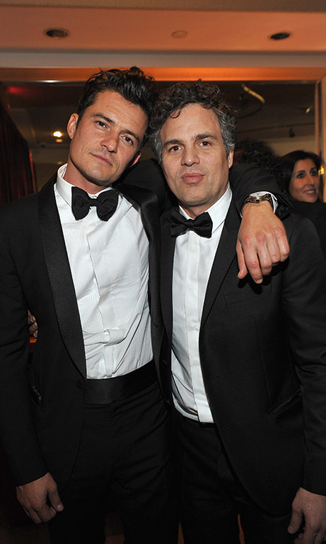 Orlando Bloom and Mark Ruffalo looked sharp during the 17th Annual Warner Bros. Pictures and InStyle Golden Globe after party.