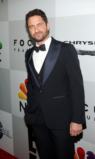 Hello, handsome! Gerard Butler looked dapper during the Universal, Focus Features, E! Entertainment Golden Globes After Party Sponsored by Chrysler.