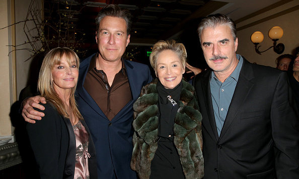 January 8: Aidan and Mr. Big could be friends! John Corbett with love Bo Derek, Sharon Stone and Chris Noth attended the Ketel One Vodka sponsored 'Spotlight' pre-Golden Globes party at Bouchon in Beverly Hills. 