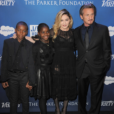 "January 9: Madonna, along with her two youngest children David Banda and Mercy James, supported ex Sean Penn at his Help Haiti Home gala in Beverly Hills. During her speech, she said ""I want to say Sean, I love you, from the moment that I laid eyes on you.""
