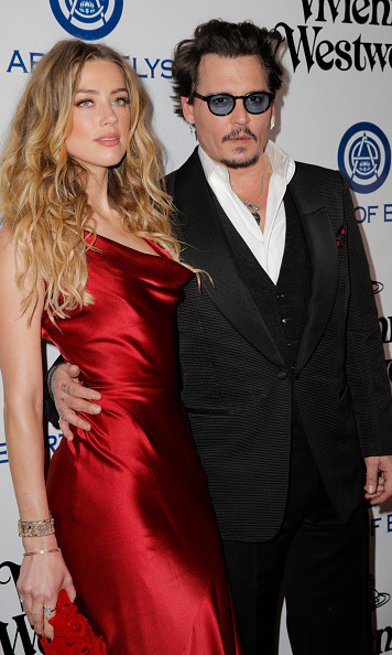 January 9: Amber Heard and Johnny Depp supported the Art of Elysium's 9th Annual Heaven Gala by visionaries Vivienne Westwood & Andreas Kronthaler at 3LABS in Culver City, California.