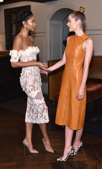 January 9: Ladies who lunch! Chanel Iman and Jaime King sneaked away for some catch up time during W Magazine's It Girl luncheon in partnership with Coach and Moet & Chandon at A.O.C in L.A.