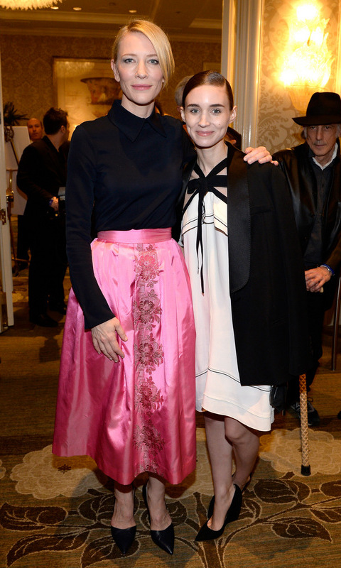 January 9: Tea time! Cate Blanchett and Rooney Mara spent their Saturday afternoon with BAFTA at their tea party at the Four Seasons hotel in Beverly Hills.