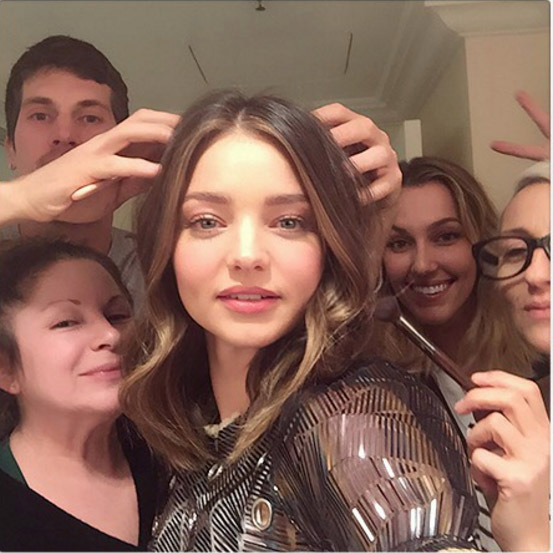 Miranda Kerr was extra thankful for her camera-ready glam squad that included Teddy Charles, Kristal Fox, Lisa Storey and Jessica Paster.