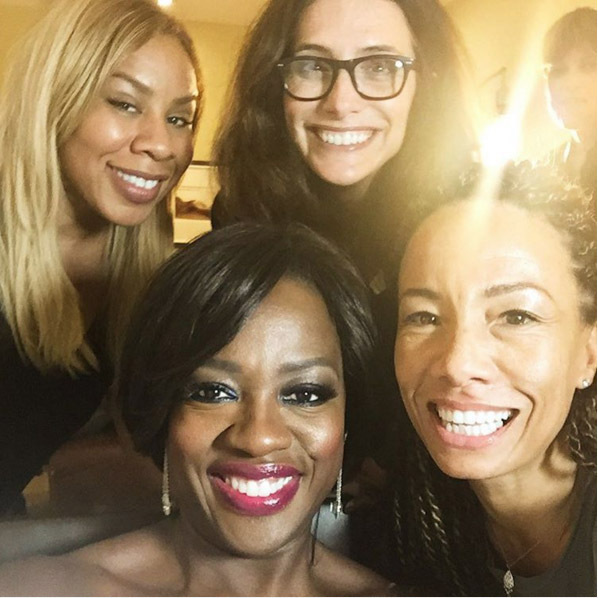 Viola Davis' makeup artist Autumn Moultrie was on hand to make sure the actress looked flawless at the Golden Globes. 