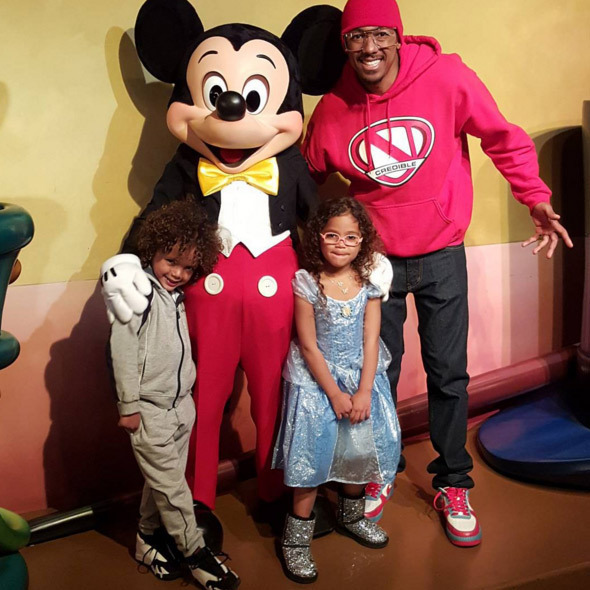 Nick Cannon's fun day out with Monroe and Moroccan ...