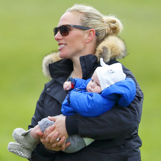 Hoping to instill a love of horses in her daughter from an early age, Zara took baby Mia to her first horse-riding event when she was only 3 months old.