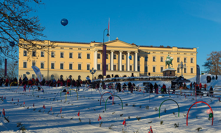 The Royal Palace served as a stunning backdrop for the day's events.