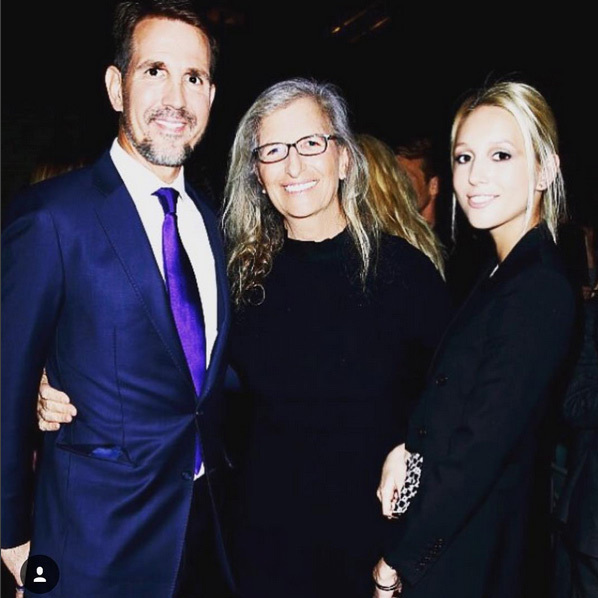 Celebrity photographer Annie Leibovitz got in front of the lens as she met with Prince Pavlos of Greece and his daughter Princess Olympia. 