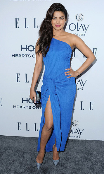 January 20: Priyanka Chopra looked stunning in blue at Elle's Women in TV Celebration presented by Hearts on Fire and Olay in West Hollywood. 