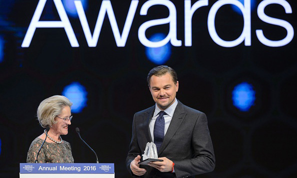 January 19: A man for a cause! Leonardo DiCaprio was presented with an award at the 22nd annual Crystal Awards in Switzerland. 