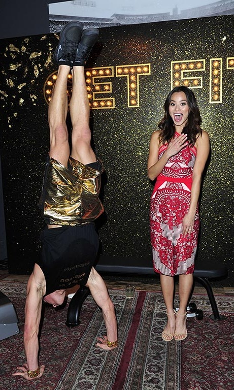 January 19: How did he do that? Jamie Chung had some fun at SVEDKA Vodka's Broken Resolution Bash at Hyde Sunset Kitchen & Cocktails in L.A.