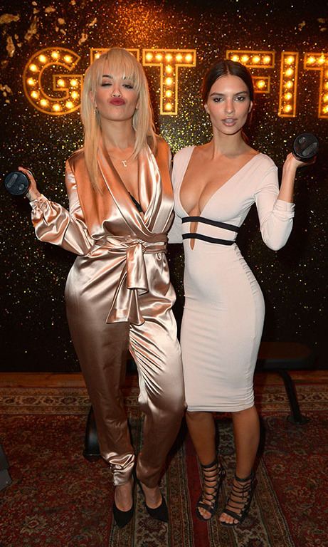 January 19: Flex! Rita Ora and Emily Ratajkowski showed off their muscles, and style, at SVEDKA Vodka's Broken Resolution Bash at Hyde Sunset Kitchen & Cocktails in L.A.